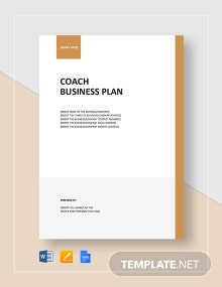 Coach Business Plan Template