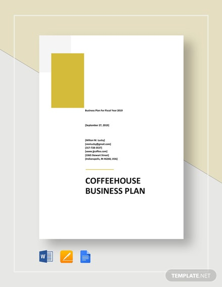 Coffeehouse Business Plan Template