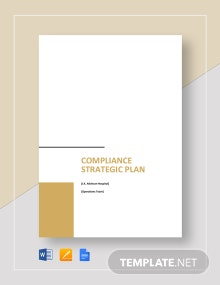 Compliance Strategic Plan Template