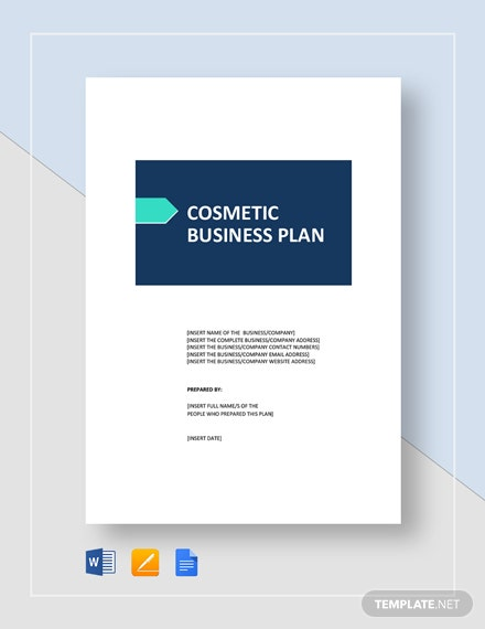 Cosmetic Business Plan Template