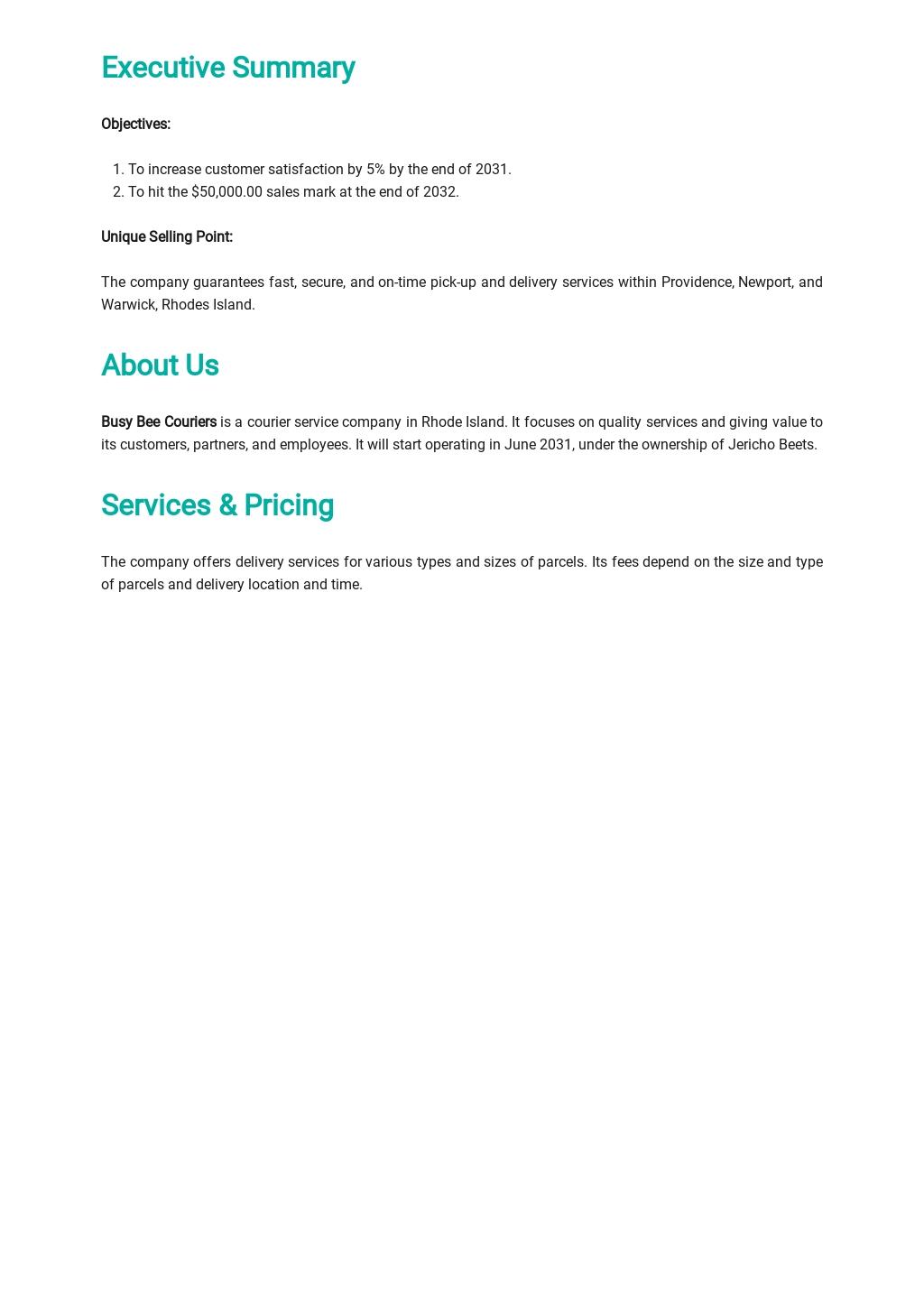 Courier Business Plan Template 1.jpe