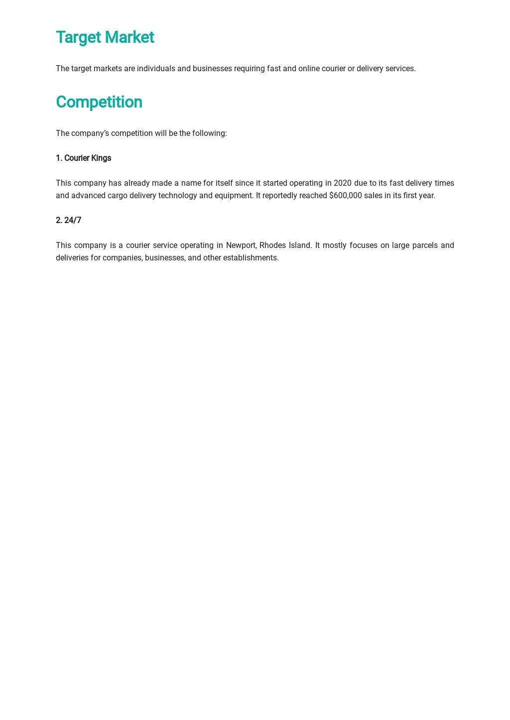 Courier Business Plan Template 2.jpe