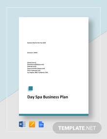 Day Spa Business Plan Template