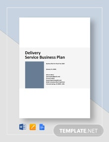 Delivery Service Business Plan Template