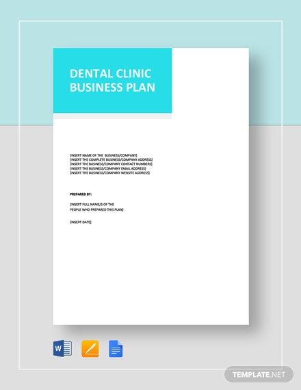 Dental Clinic Business Plan Template