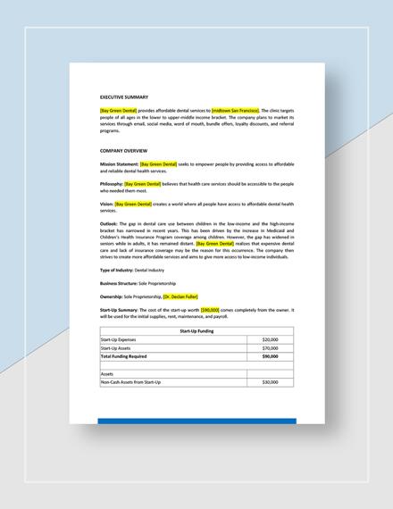 Dental Marketing Plan Download