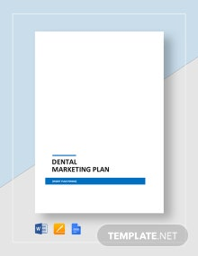 Dental Marketing Plan Template