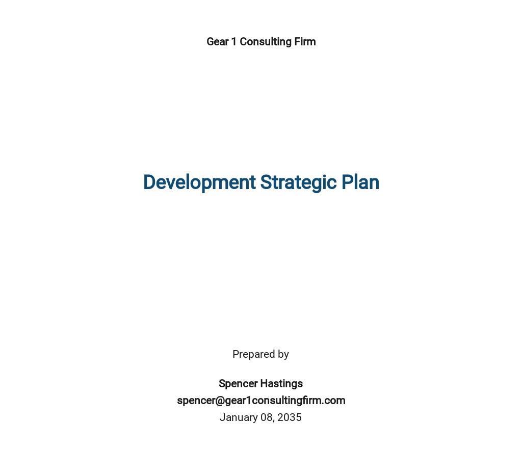 Development Strategic Plan Template