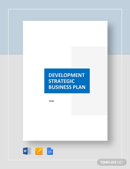 Development Strategic Plan Template