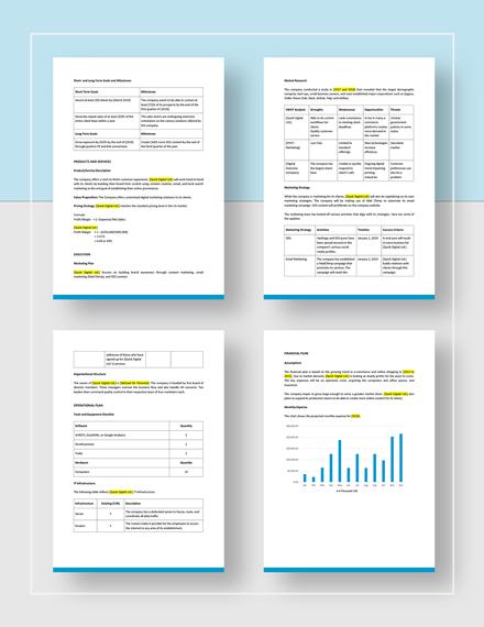 Digital Marketing Business Plan Download