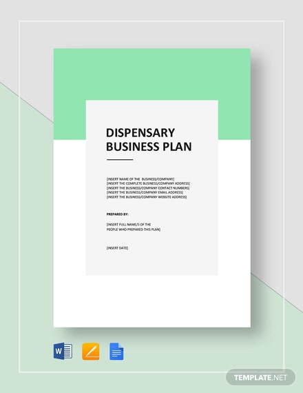 Dispensary Business Plan Template