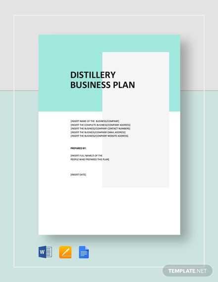 Distillery Business Plan Template