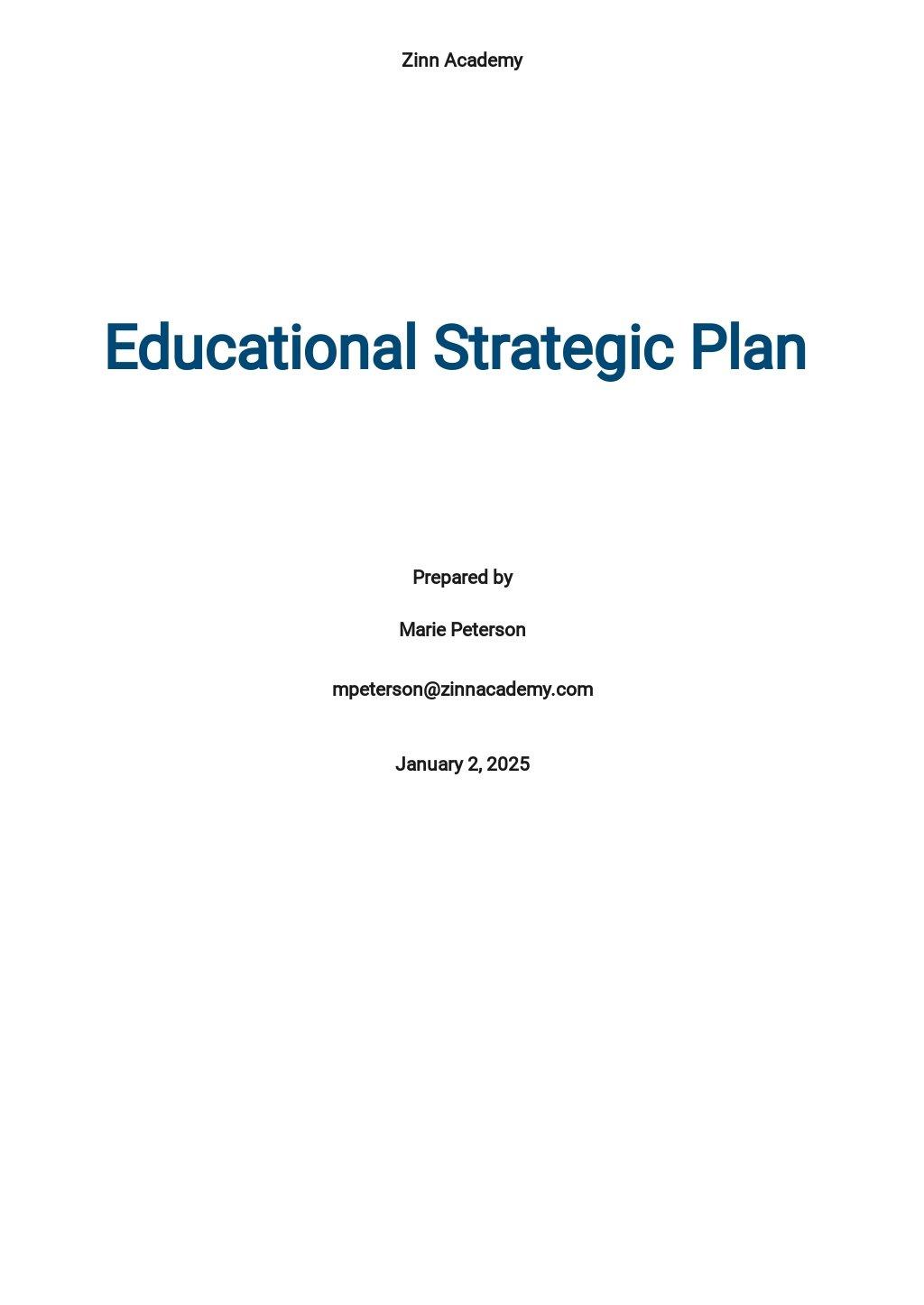 Educational Strategic Plan Template.jpe
