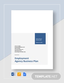 Employment Agency Business Plan Template