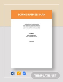 Equine Business Plan Template