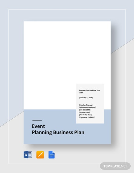 Event Planning Business Plan Template