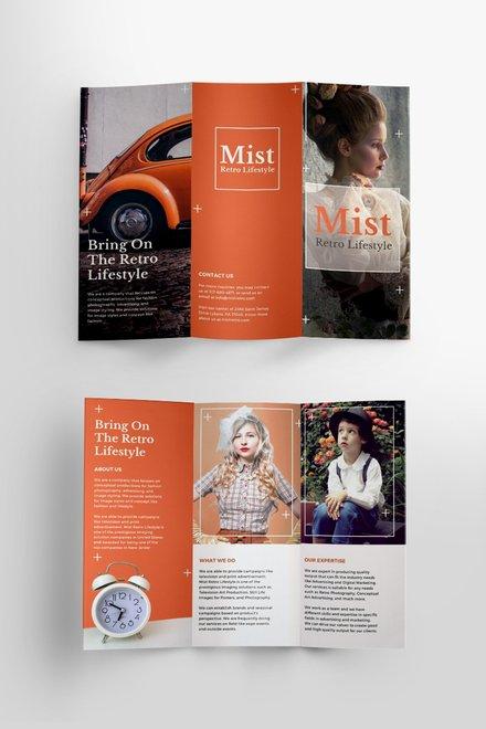 Free Retro Brochure Template