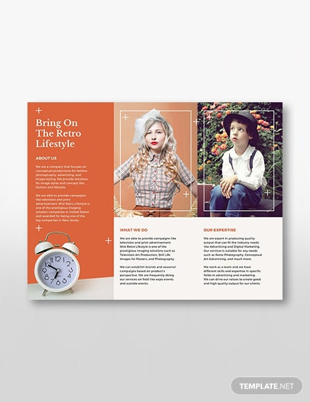 Retro Brochure Template [Free Publisher] - Illustrator, InDesign, Word, Apple Pages, PSD