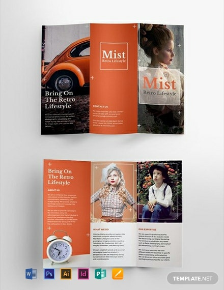 Free Retro Brochure Template