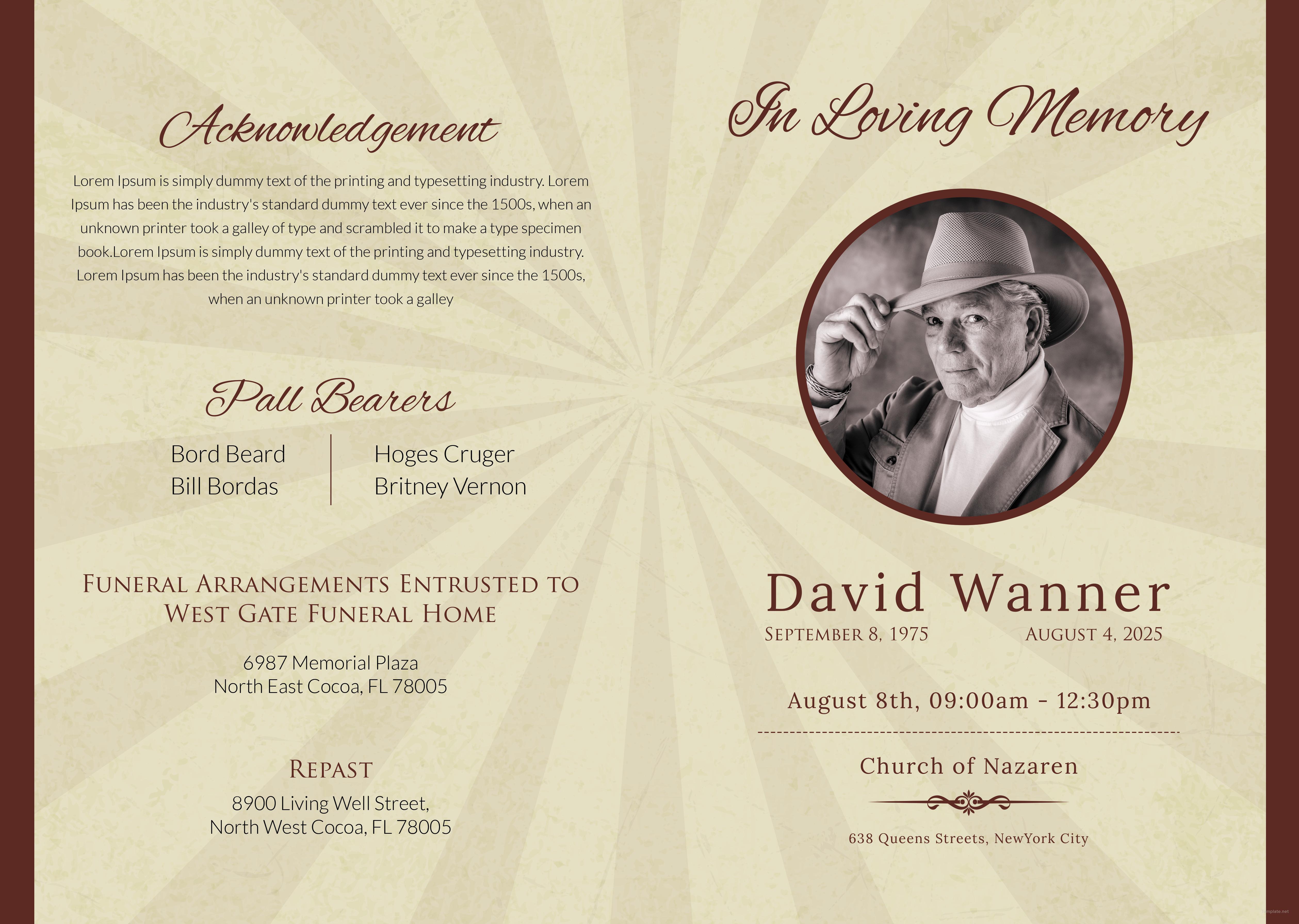 obituary design templates free - Vatoz.atozdevelopment.co
