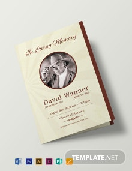 Obituary Bi-Fold Brochure Design Template