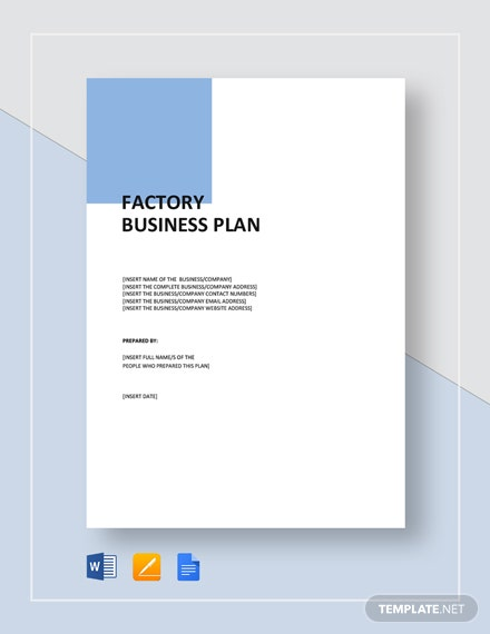 Factory Business Plan Template