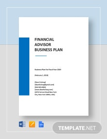 Financial Advisor Business Plan Template