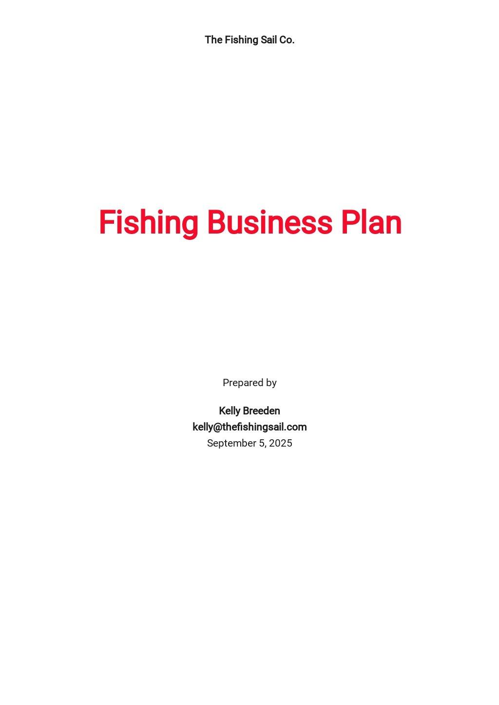 Fishing Business Plan Template