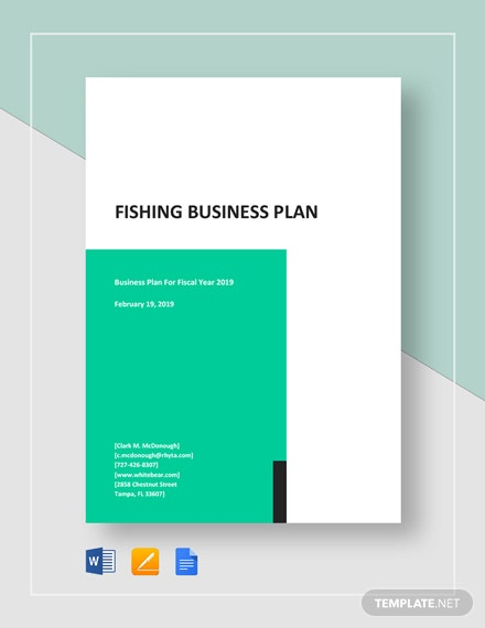 Fishing Business Plan Template