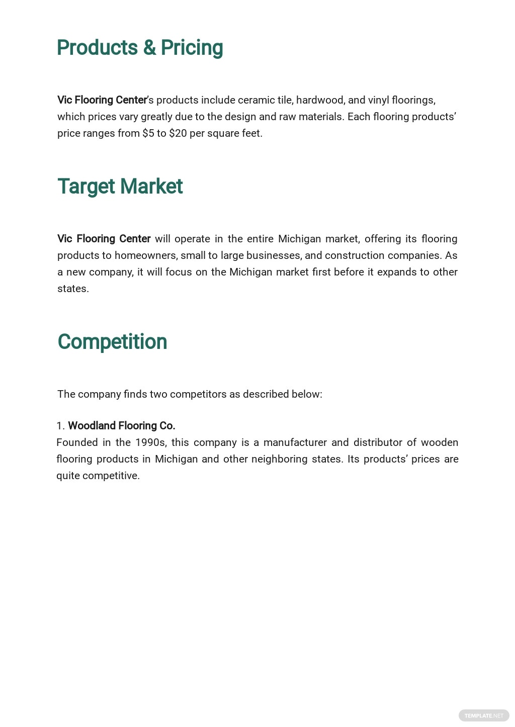 Flooring Company Business Plan Template 2.jpe