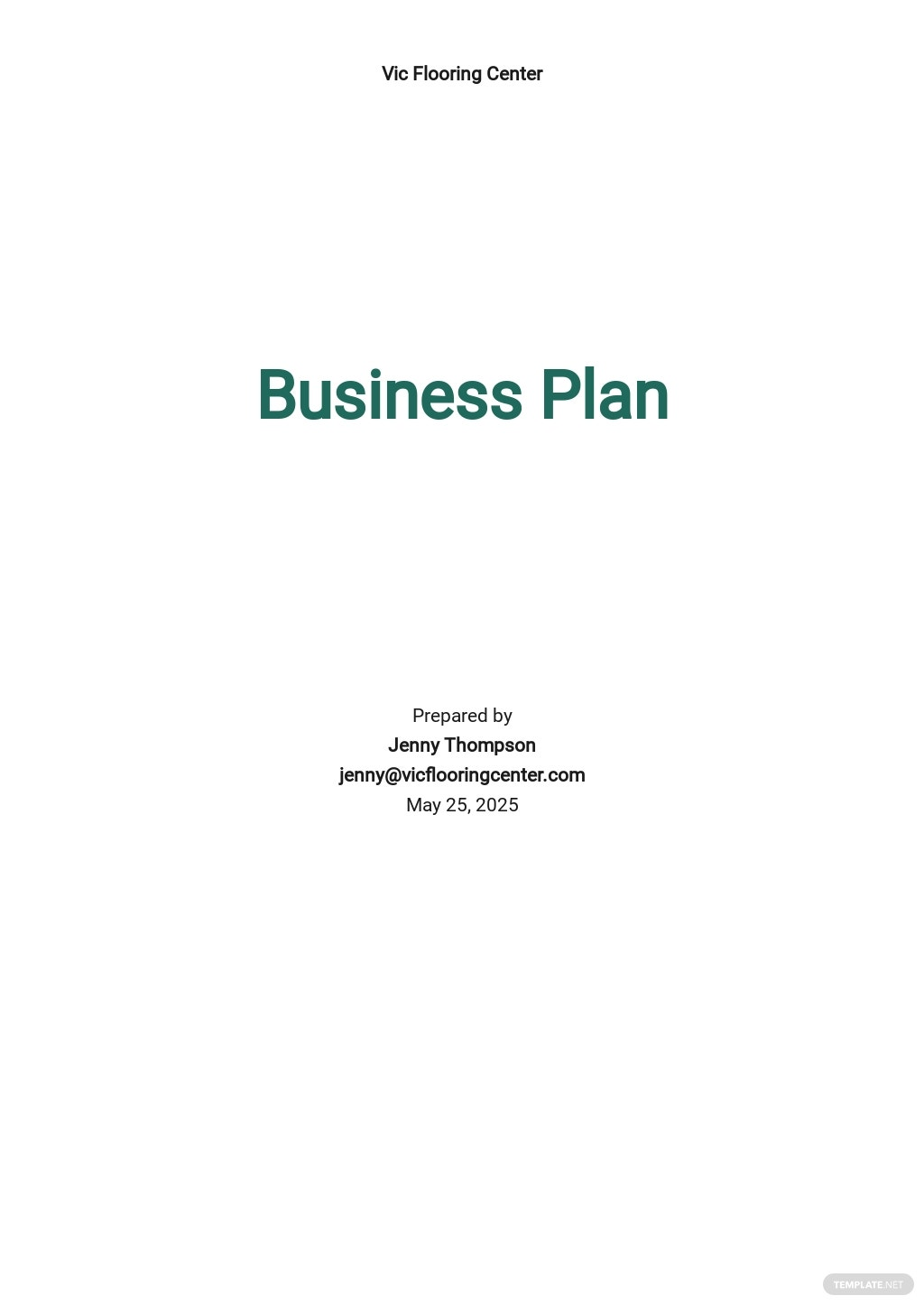 Flooring Company Business Plan Template