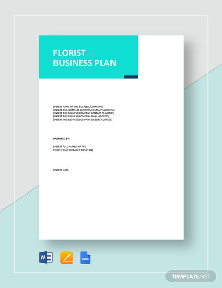 Flower Shop / Florist Business Plan Template