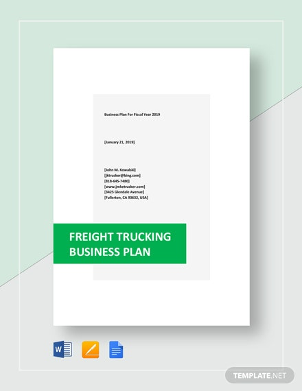 Freight Trucking Business Plan Template