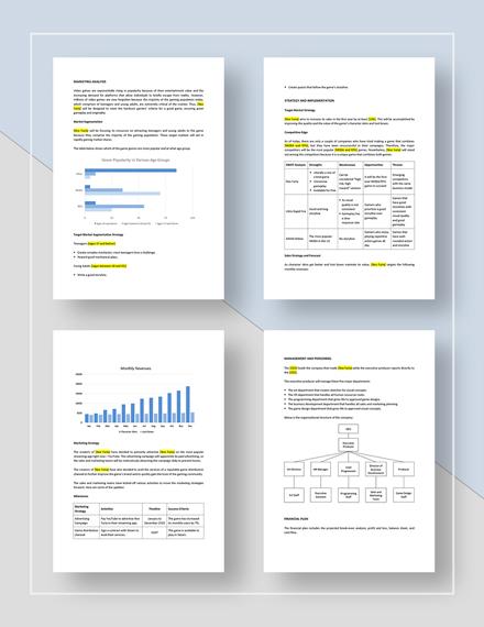 Sample Game or Game Studio Marketing Plan