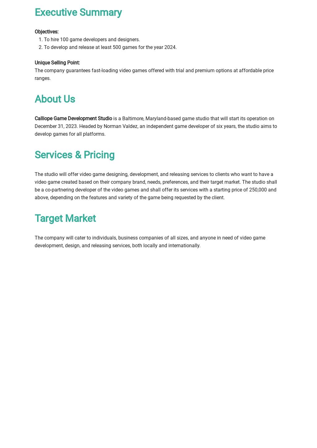 Game / Game Studio Business Plan Template 1.jpe