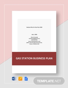 Gas Station Business Plan Template