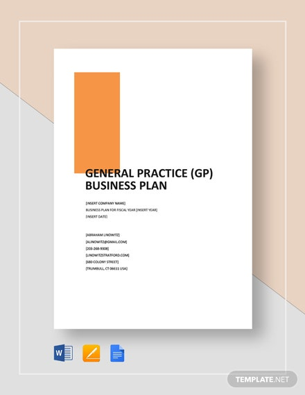 General Practice (GP) Business Plan Template