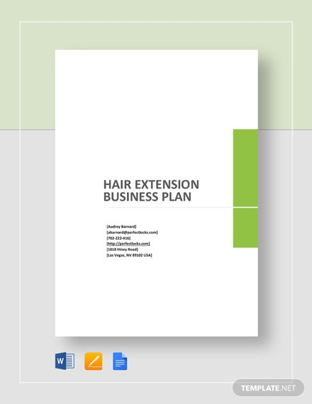 Hair Extension Business Plan Template