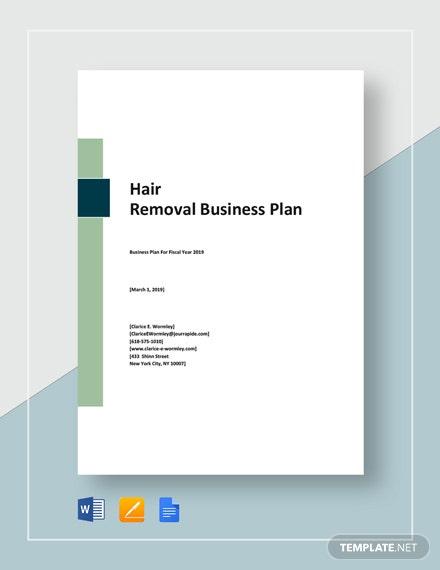 Hair Removal Business Plan Template