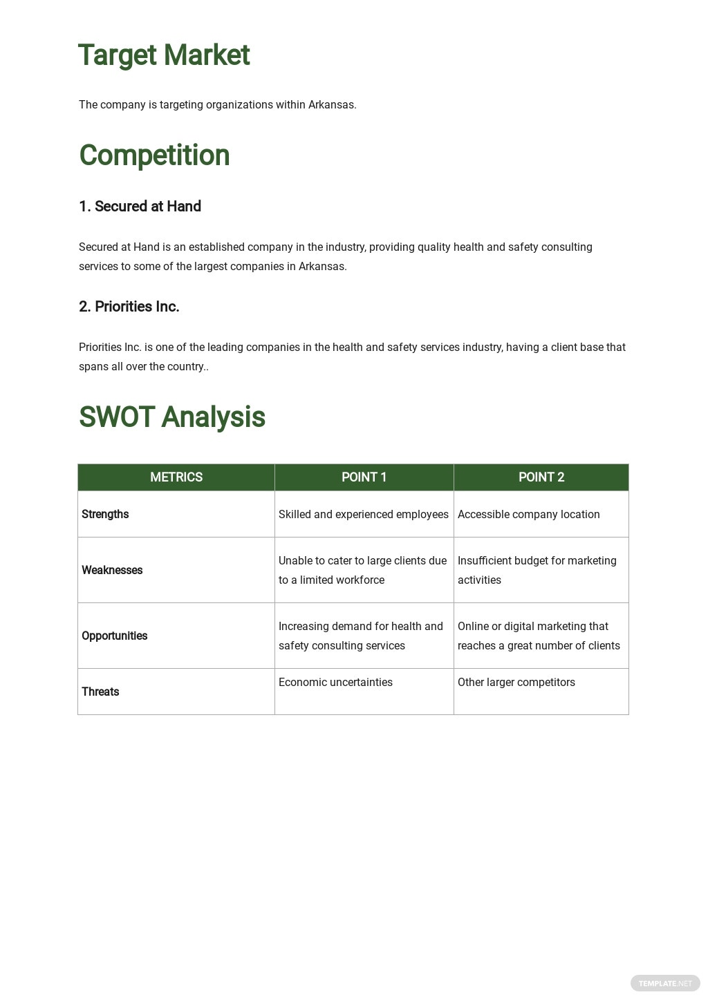Health & Safety Business Plan Template 2.jpe
