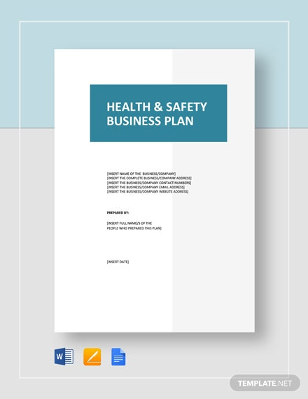 Health  Safety Business Plan
