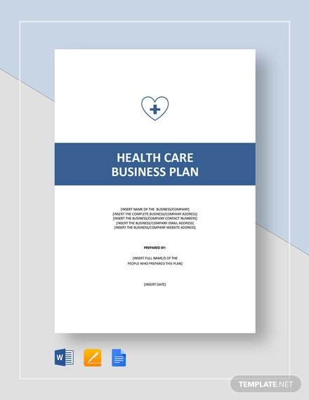 Health Care / Social Care Business Plan Template