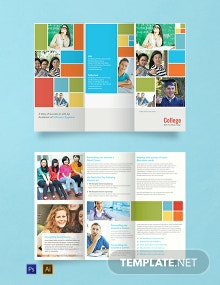 Free College A3 Brochure Template