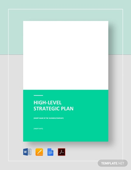 High-Level Strategic Plan Template