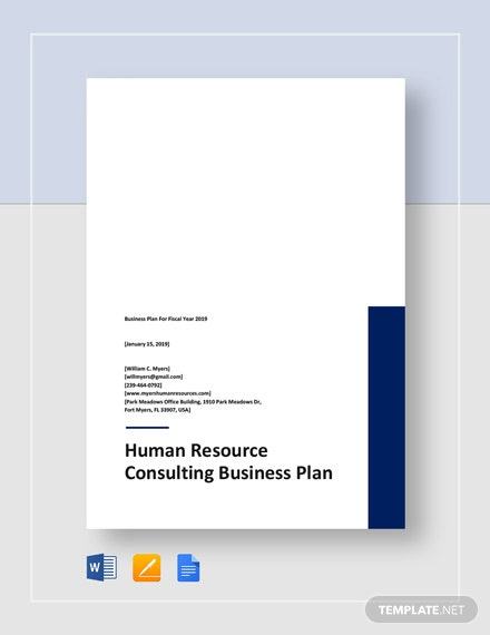 Sample Human Resources Consulting Business Plan