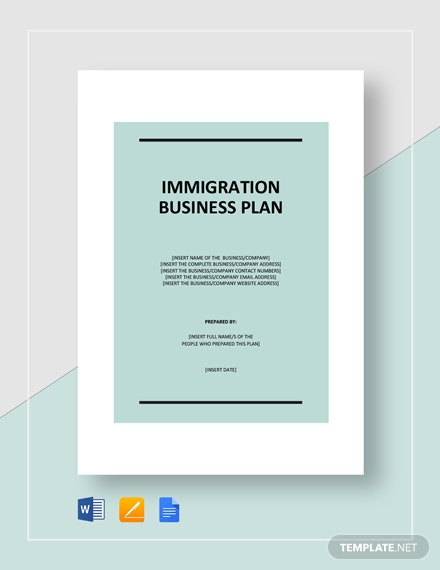 Immigration Business Plan Template