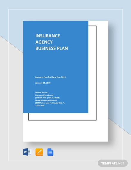 Sample Insurance Agency Business Plan Template