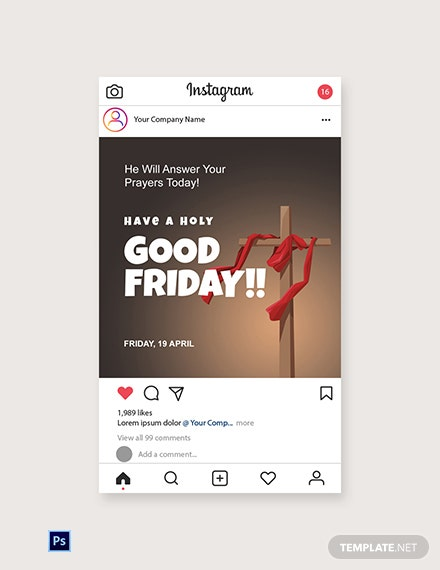 Free Good Friday Church  Instagram Post Template