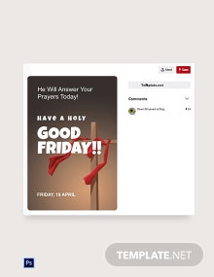 Free Good Friday Church  Pinterest Post Template