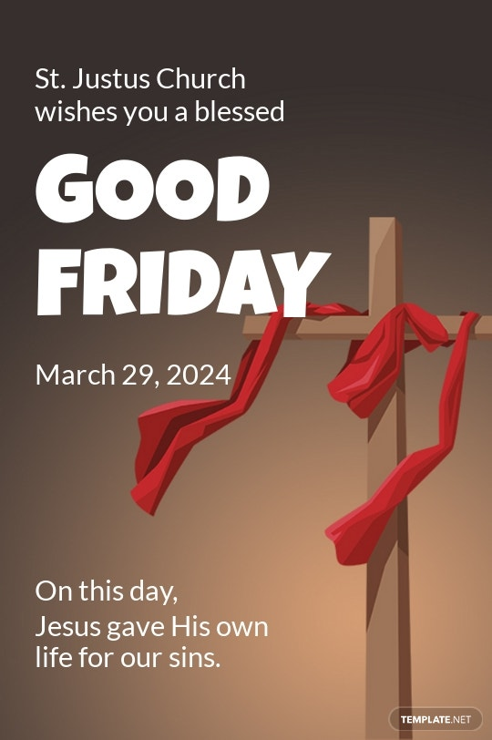 Free Good Friday Church Tumblr Post Template